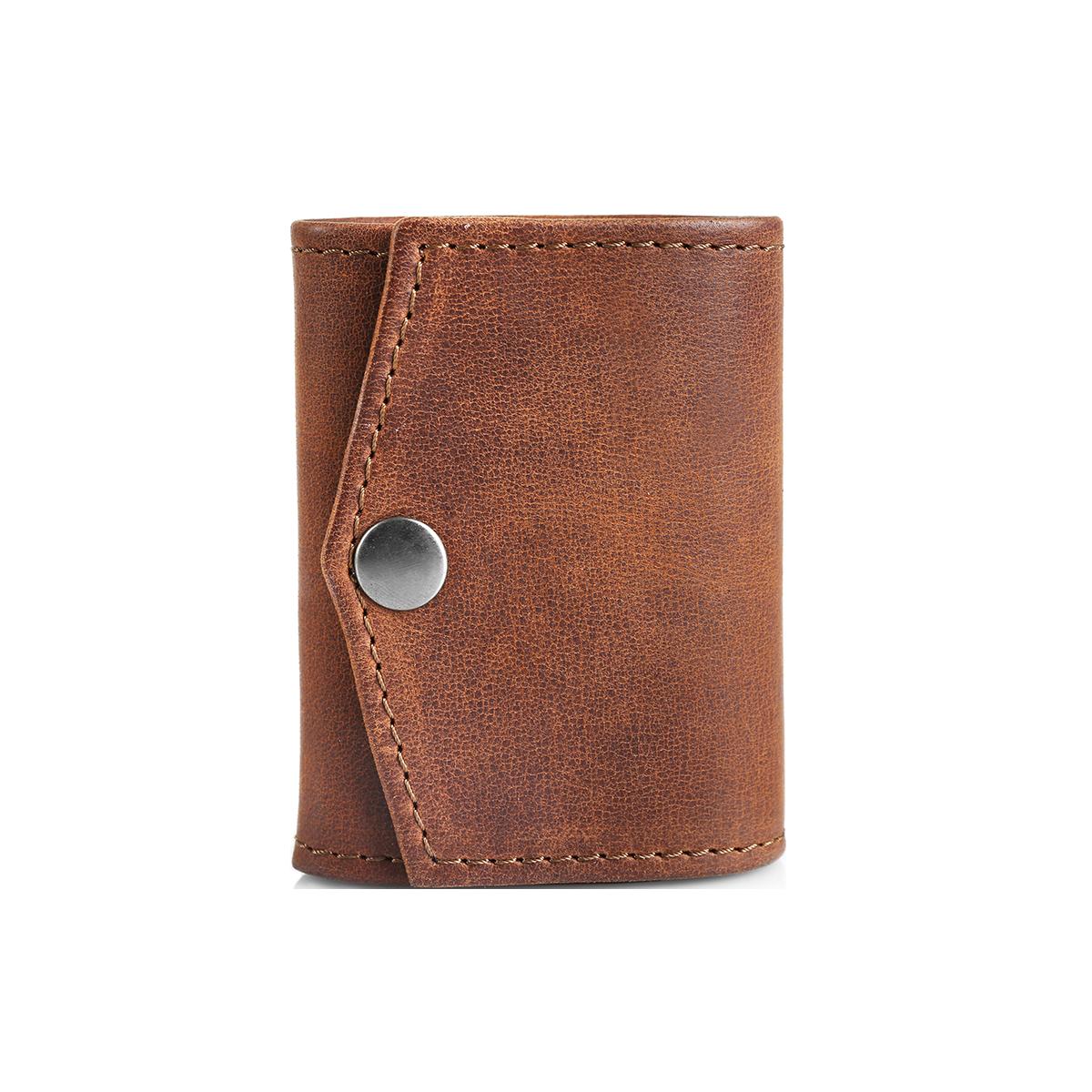 Black suede wallet